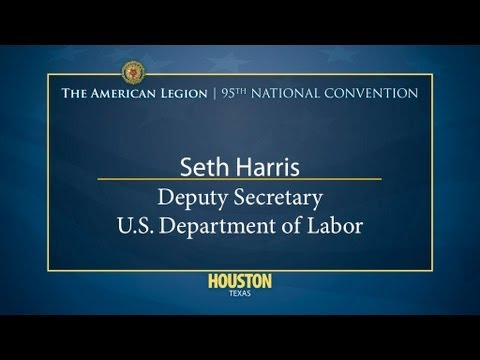 Seth Harris Deputy Secretary U S Dept of Labor - YouTube