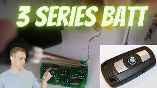 2006  2012 BMW 3 Series NonComfort Access Key Battery Replacement E90 Fob Remote