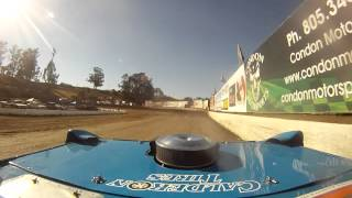 Santa Maria Speedway Joey Claborn IMCA West Coast Super Stock #88C Qualifying View #2 8/3/13