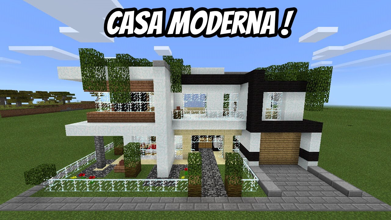 Casa moderna no minecraft pe mapa pico for Casas modernas no minecraft