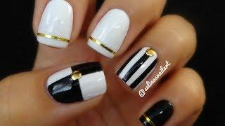 Black & White Nail Art & Nail Art Tape   Selina's Nail Art