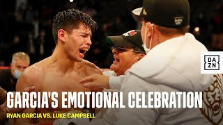 Ryan Garcia's Immediate Emotional Reaction To KOing Luke Campbell