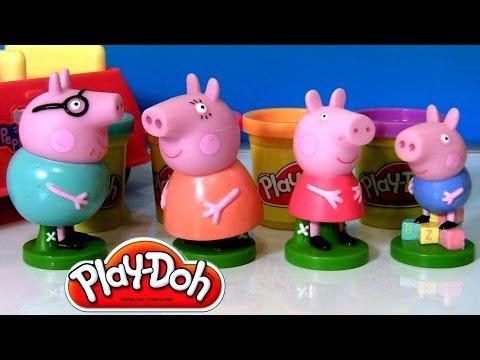Pig George Play Doh Stampers Da Porquinha Peppa Pig Youtube