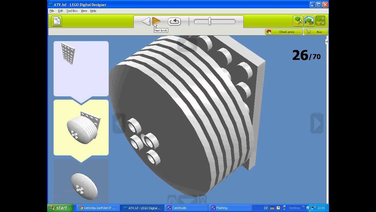 How to make ATV on LEGO Digital Designer | Orion blog