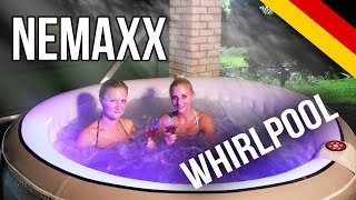 Nemaxx SPA208-L Selbstaufblasbarer Whirlpool, Spa - Ø208cm, 1000L (Max. 6 Personen)