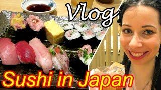 Eating real sushi in Japan - Shinjuku