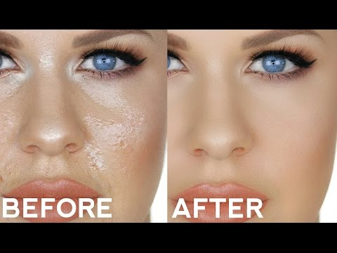 HOW TO FIX / TOUCH UP OILY FOUNDATION!!   SIMPLE TRICK FOR PERFECT ALL DAY MAKEUP!!