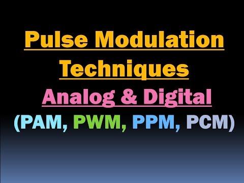 Pulse Modulation Techniques (PAM, PWM, PPM, PCM)/Pulse Amplitude,Pulse  Width,Pulse Position, Code