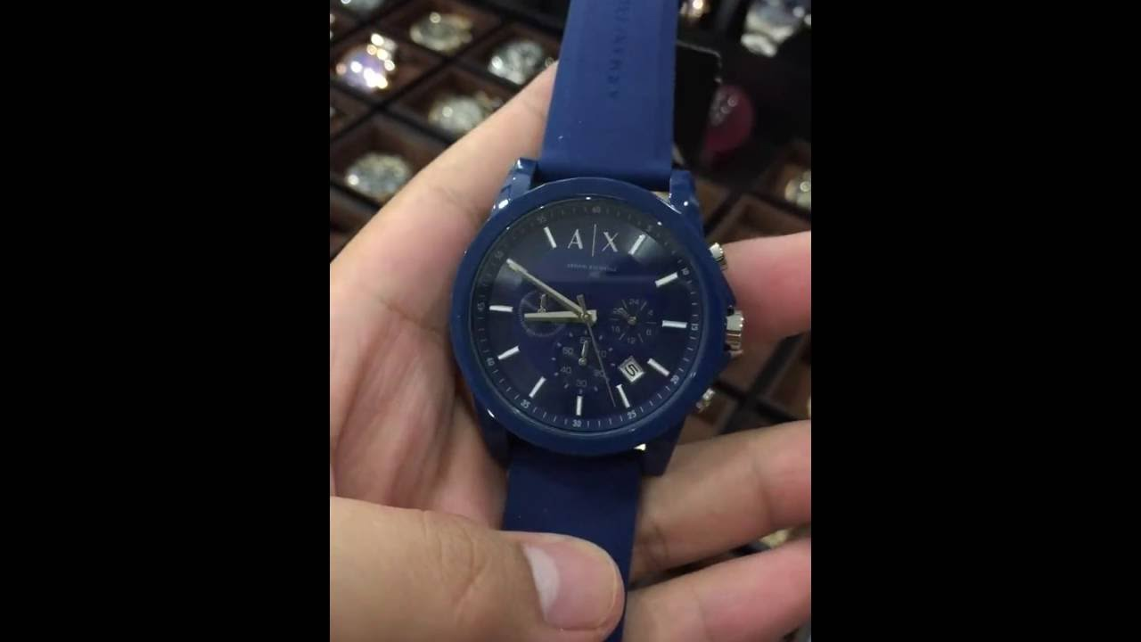 2c375aad41fb Armani Exchange Unisex AX1327 Analog Display Analog Quartz Blue Watch