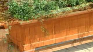 Coral Coast Rectangular Cedar Wood Aster Patio Planter Box - Product Review Video