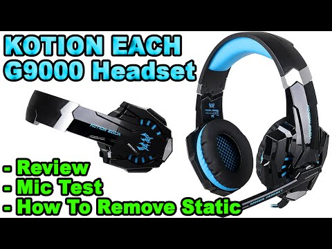 Kotion Each G9000 Headset Review Mic Test How To Remove Static