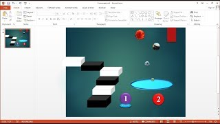 Tutorial PowerPoint 2013 Cara Membuat Presentasi Slideshow Animasi Countdown Bola Memantul