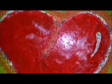 """peinture abstraite """"coeur d'Amour..."""" (photos en musique) - YouTube"""