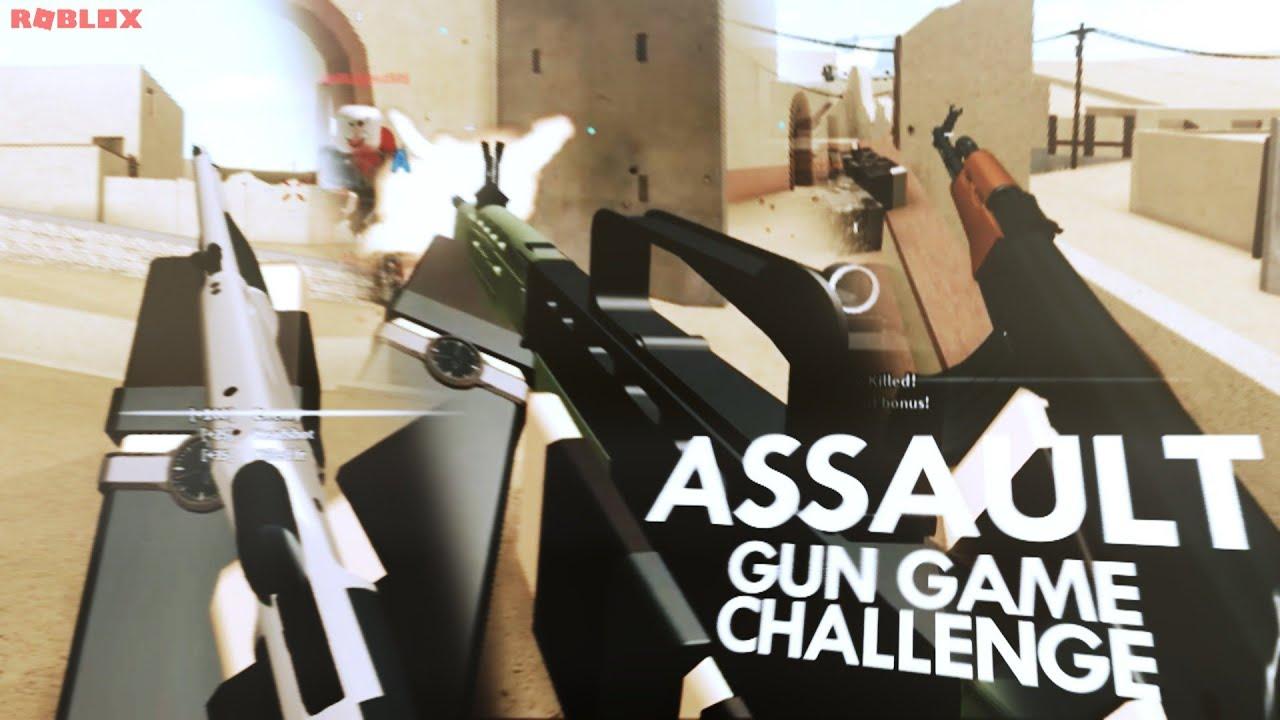 Gun Game Challenge In Phantom Forces Roblox Youtube