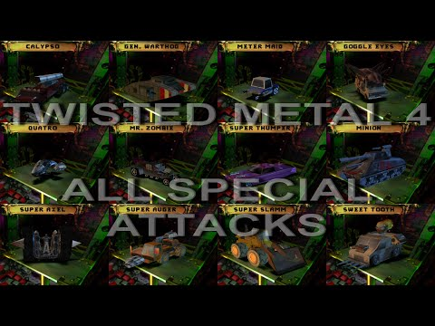 Twisted Metal 4 - All Special Attacks