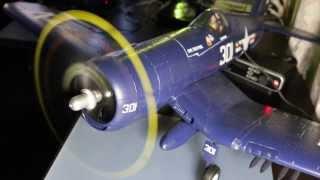 durafly f4u corsair with hobbyking aircraft engine sound module system