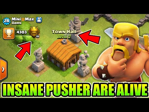 UNBELIEVABLE TROPHIES PUSHERS PLAYER STILL EXIST IN 2018 CLASH OF CLANS