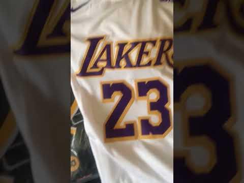 finest selection 2b70f 0722c La Lakers Lebron Jersey!!!exclusive unboxing (White junt)