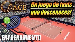 🎾Full Ace Tennis Simulator🎮(Entrenamiento y partido) en 4k y PC
