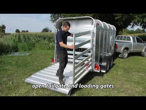 Graham Edwards Trailers - Wind away deck on our livestock trailer