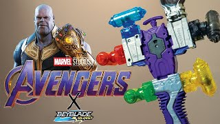 THANOS INFINITY GUANTLET LAUNCHER! Epic Beyblade Launcher Customization | Beyblade Burst