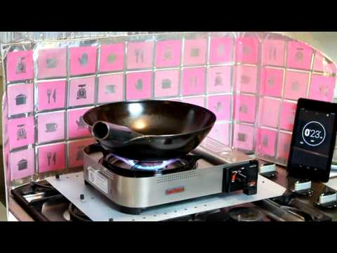 Wok fire under a minute with Iwatani 35FW portable burner