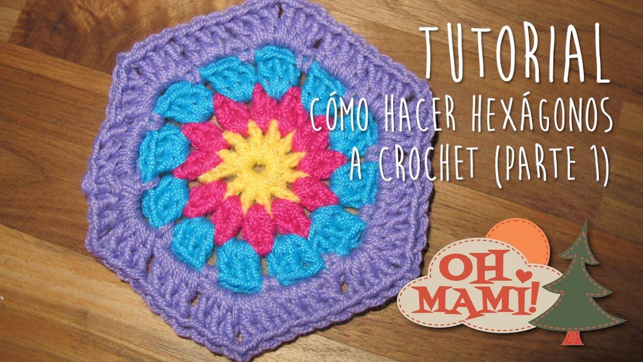 Cómo hacer hexágonos a crochet (Parte I) - YouTube