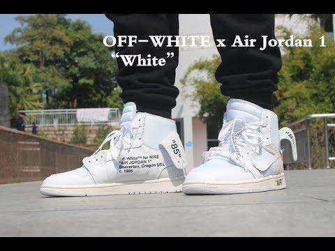 jordan 1 off white white on feet