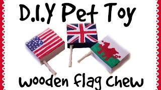 Wooden Flag Chew *homemade Guinea Pig Toy*