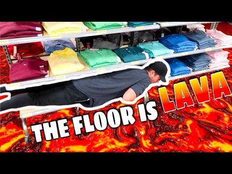 THE FLOOR IS LAVA CHALLENGE IN PUBLIC! (SAVAGE)