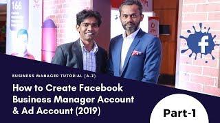 كيفية إنشاء Facebook عمل حساب مدير & Ad حساب (2019) | مدير الأعمال التعليمي[A-Z]