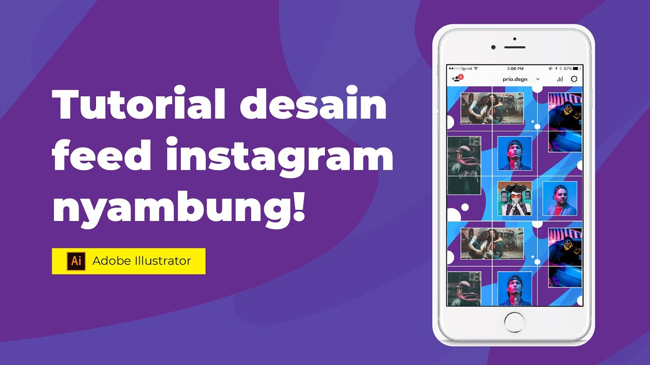Tutorial Desain Feed Instagram dengan Illustrator