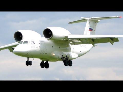 RARE! Antonov AN- 74 RA-74006 Landing at Bern Airport