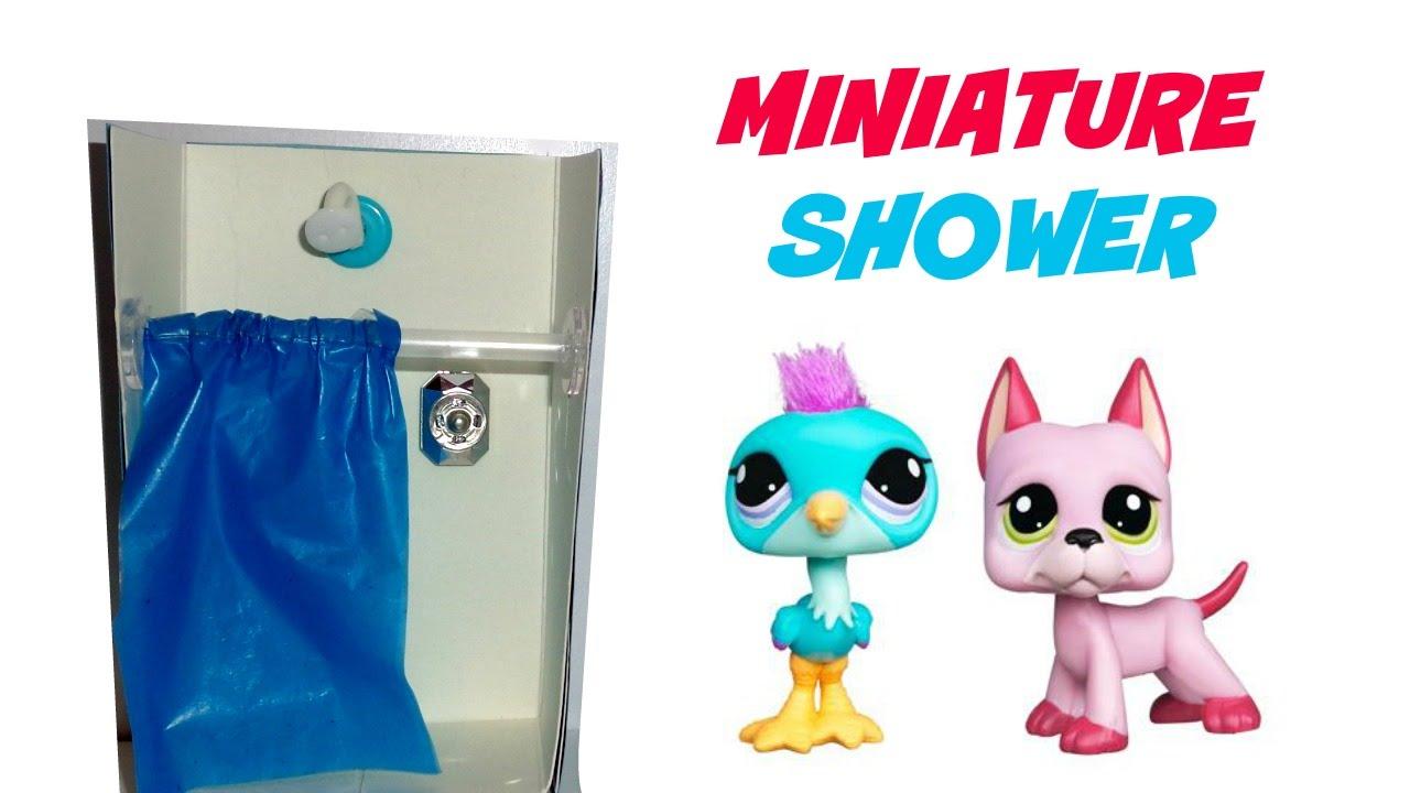 Diy Miniature Dollhouse Shower Youtube