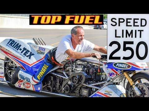FIVE TOP FUEL NITRO MOTORCYCLES PUT ON A THRILLING TOP SPEED 254 MPH SHOW AT MAN CUP NHRA SGMP