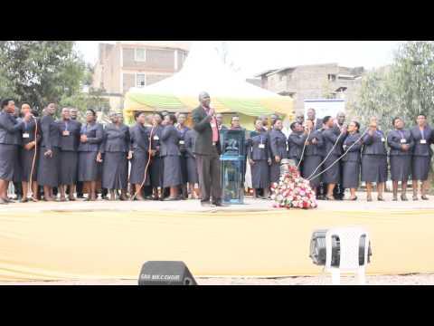 Kurasini SDA Choir singing Safari ya Mbiguni at Mathare North camp meeting 2015
