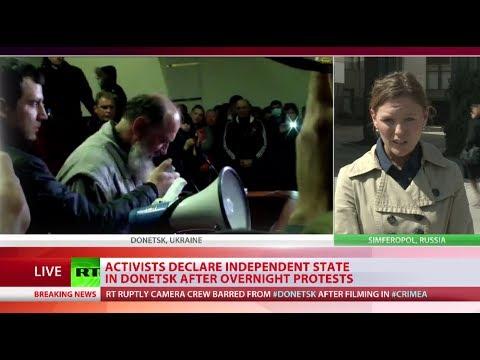 Activists declare independent Donetsk republic, seize local govt building