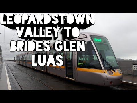 Onboard A Luas Tram 5000 From Leopardstown Valley To Brides Glen