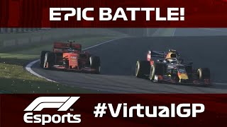 Leclerc And Albon Go Wheel To Wheel | F1 Virtual Grand Prix, Interlagos