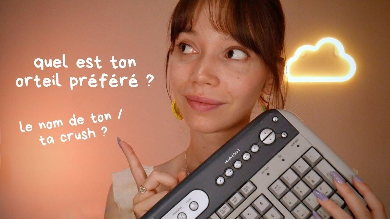 ASMR | Je te pose des questions absurdes et trop personnelles (clavier!!)