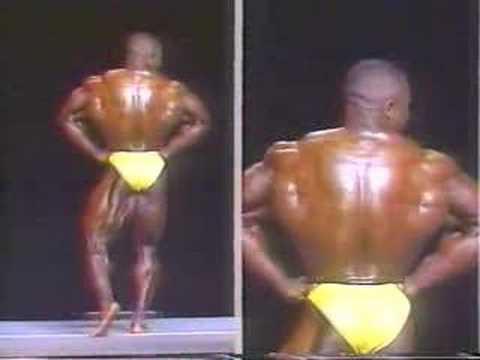 Bodybuilder John Sherman Posing 1992 Nationals