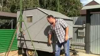 Съёмный мини дом на легковом прицепе