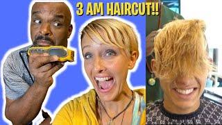 OMG! My Husband CUT MY HAIR & 1st Professional Haircut for the TEENAGERS!