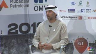 The United Arab Emirates' Energy Minister Suhail Al Mazrouei talks ...