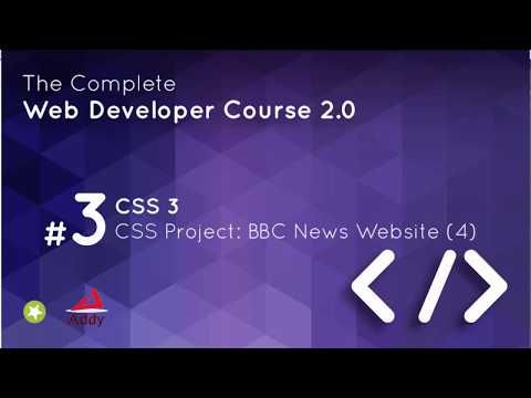 CSS 3 Lesson 19    CSS Project BBC News Website 4