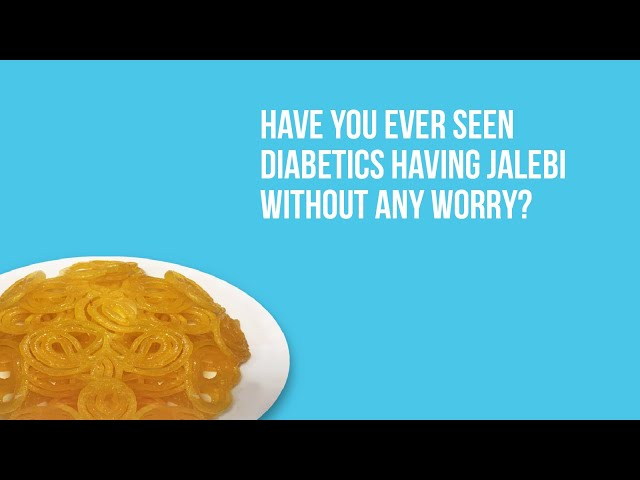 Diabetics having Jalebi without any worry.  Eight participan...