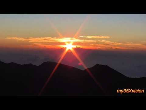 Sunrise from the top of Haleakala Volcano ~ House of the Sun ~ Maui Hawaii