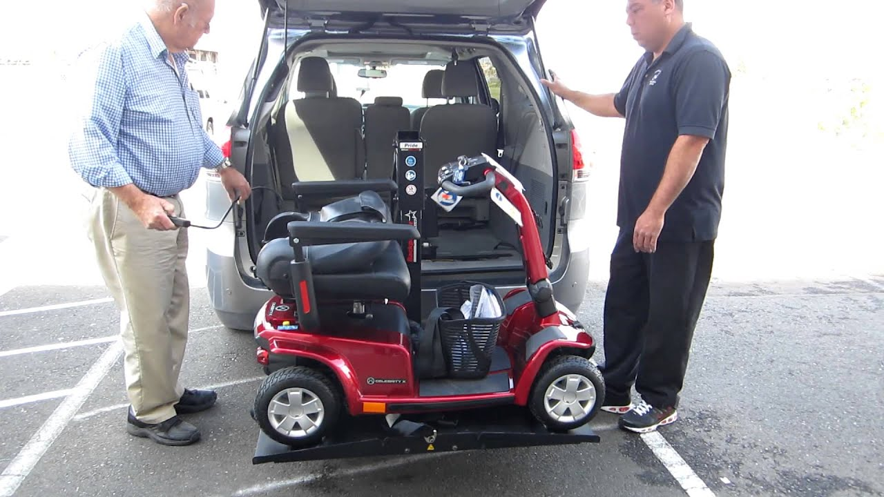 Pride Mobility Scooter >> backpacker scooter lift, 2012 Toyota sienna, Celebrity x ...