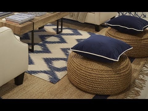 DIY Tire Rope Ottoman YouTube