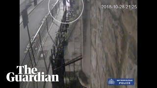 Police release CCTV footage of Westminster slash attack